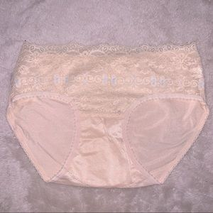 Tan & Baby Blue Floral Lace Cheeky Pantie